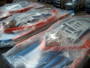 Powder coating and packaging