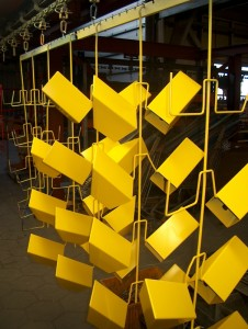 Serial powder coating
