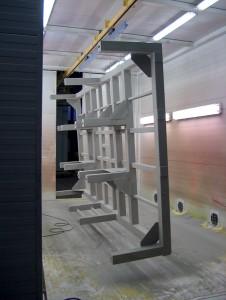 Manual powder coating