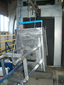 Powder coating stainless steel