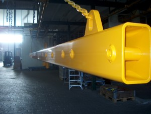 powder coating large objects