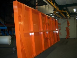 Powder coating steel