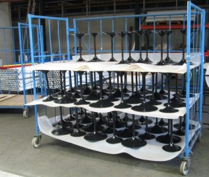 storge of powder coated products